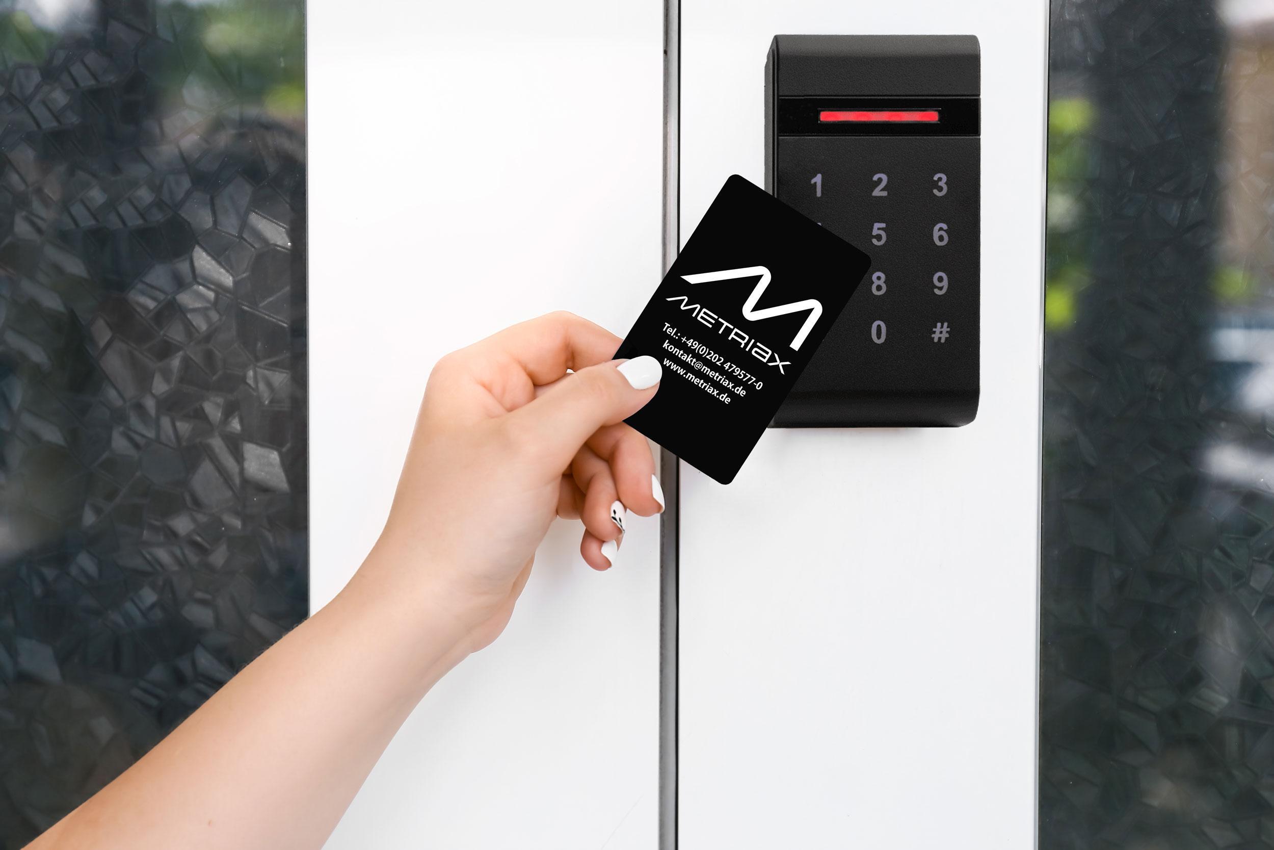 MDE 960-Metriax-RFID-NFC-Reader-Schlüsselkarte-Zutrittskontrolle