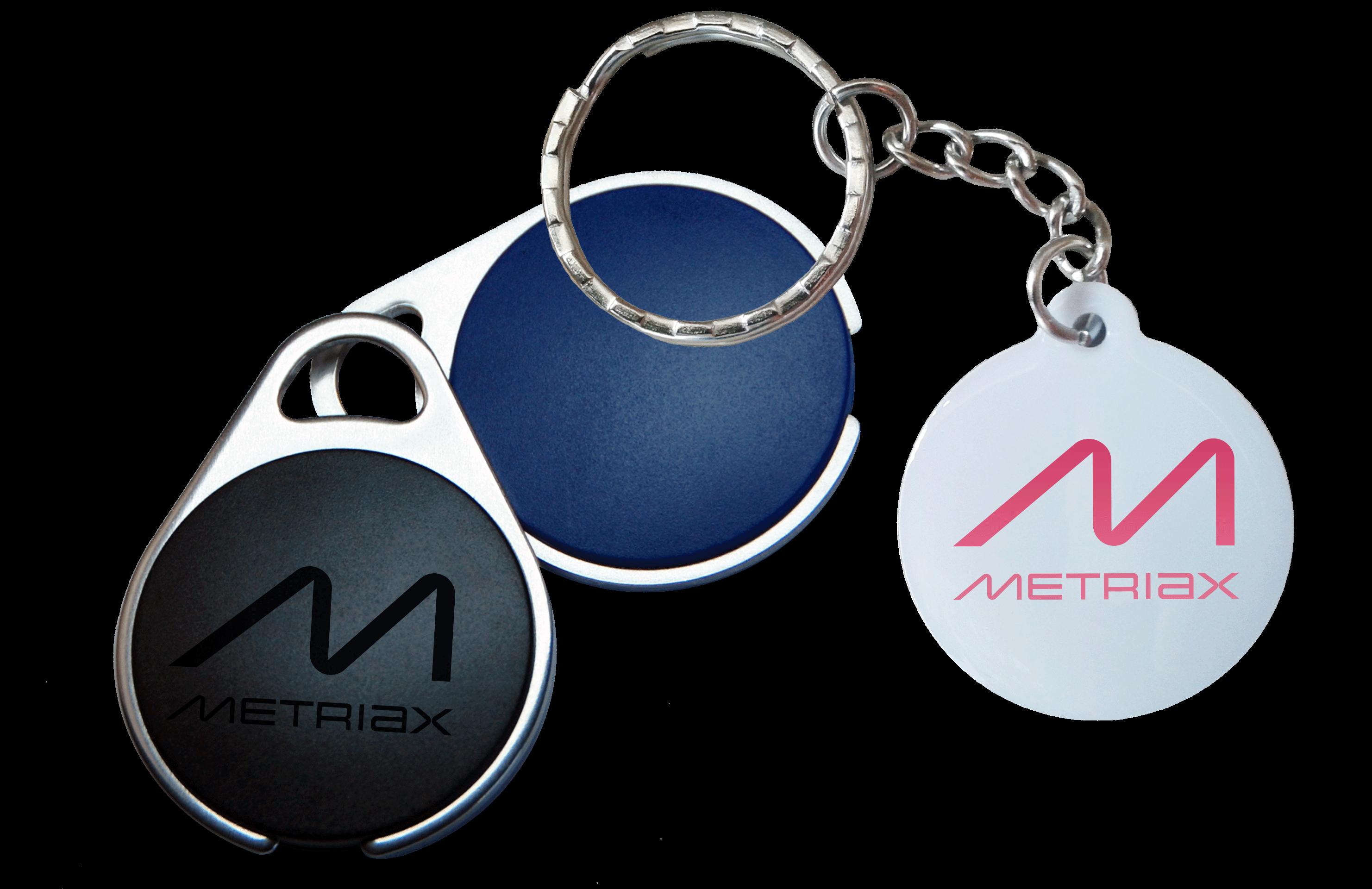 Metriax-RFID NFC-Keyfobs-Schlüsselanhänger-Epoxy-Metall-Ladesäule-Zutrittskontrolle-Zeiterfassung