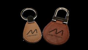 Metriax-RFID-NFC-Leder-Keyfob-Schlüsselanhänger-Leather-Schlüsselring-LF-HF-13,56MHz-125KHz-kontaktlos