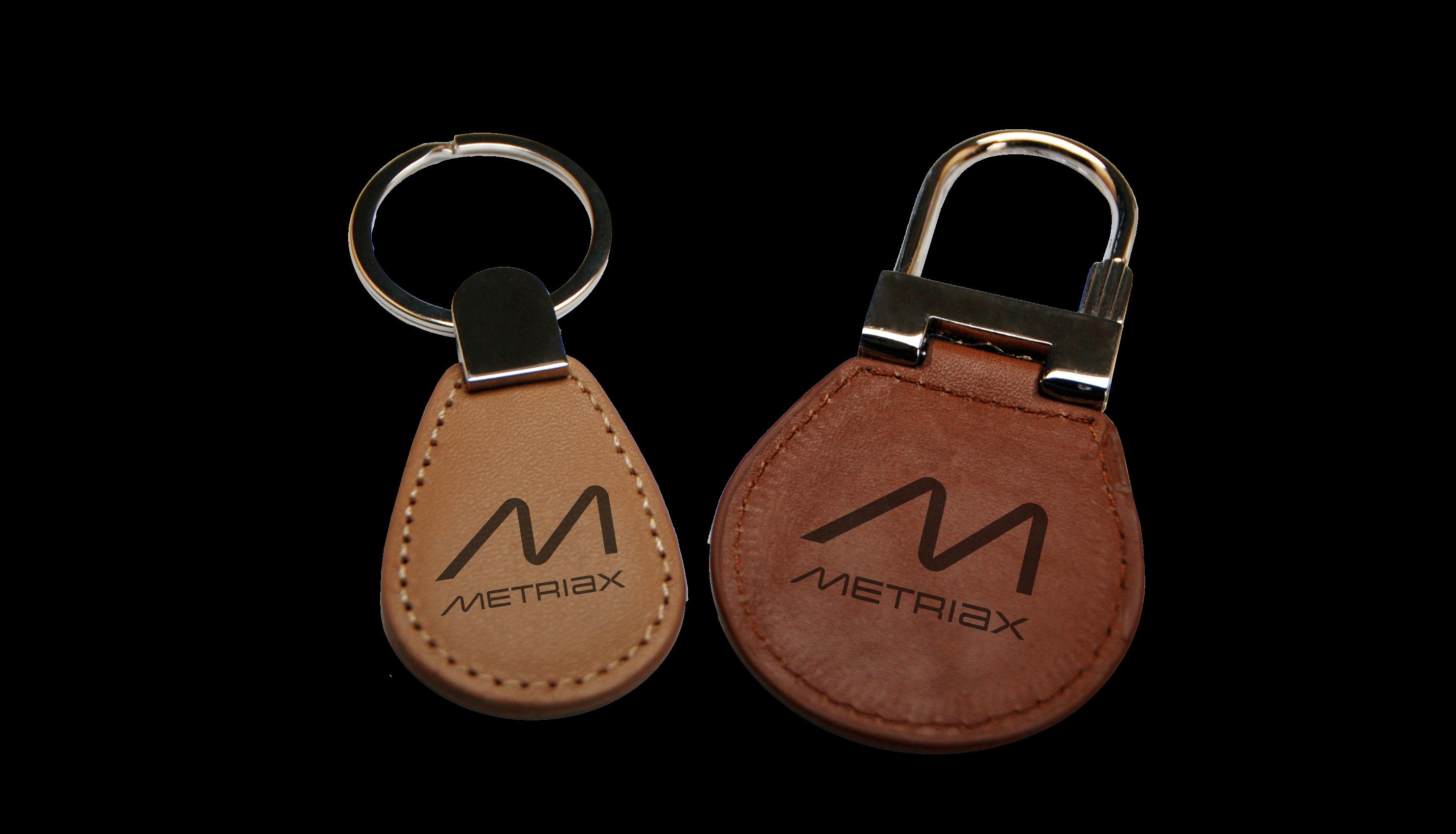 Metriax-Leder-RFID-NFC-Keyfobs-Schlüsselanhänger-handgenäht-Wallbox-Ladesäule